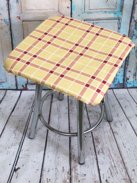 "Подушка на стул ""Space. Персиковые полосы"" (35х35 см) — фото, картинка"