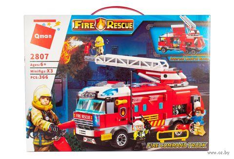"""Конструктор """"Пожарная служба"""" (367 деталей; арт. 2807) — фото, картинка"""