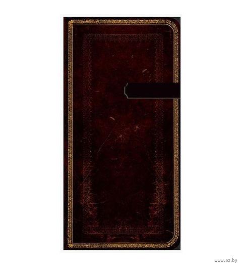 """Алфавитная книга Paperblanks """"Черная Марокканская кожа"""" (формат: 95*180 мм, слим)"""