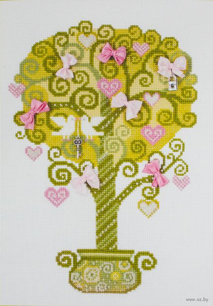 "Вышивка крестом ""Дерево счастья"" (210х300 мм) — фото, картинка"