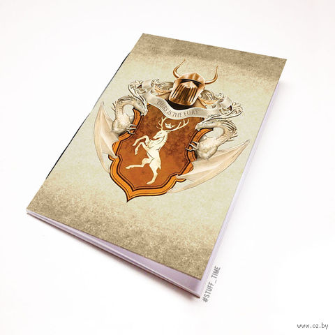 """Блокнот белый """"Игра престолов"""" А5 (447)"""