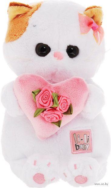 """Мягкая игрушка """"Кошечка Ли-Ли Baby с розовым сердечком"""" (20 см) — фото, картинка"""