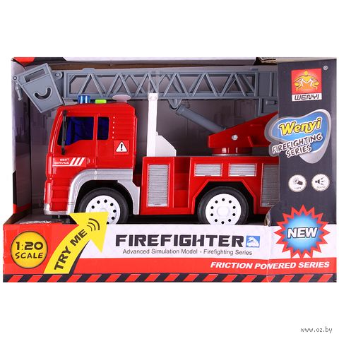 """Пожарная машина инерционная """"Firefighter"""" (арт. DV-T-456) — фото, картинка"""