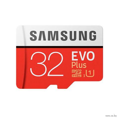 Карта памяти Samsung EVO plus microSDHC 32GB (MB-MC32GA/RU) — фото, картинка