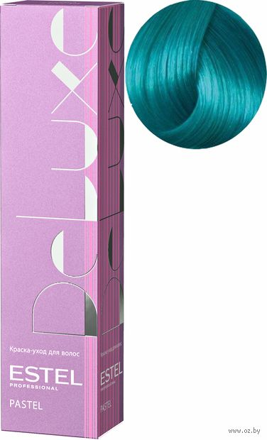"""Краска-уход для волос """"De Luxe. Пастельные тона"""" тон: 001, бирюза — фото, картинка"""
