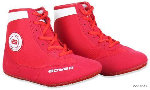 Обувь для борьбы (р. 33; красно-белая) — фото, картинка