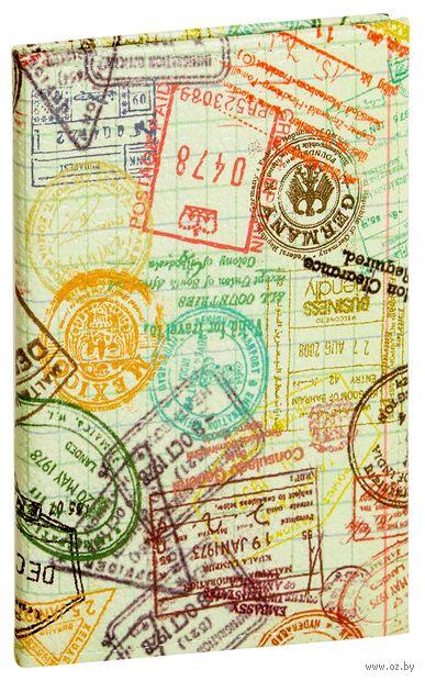 "Обложка на паспорт ""Штампы"""