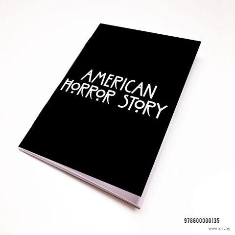 """Блокнот белый """"Американская история ужасов"""" А7 (135)"""