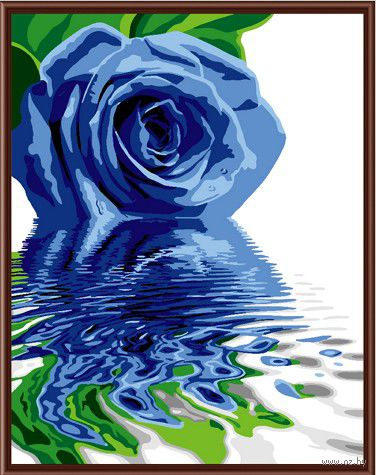 "Картина по номерам ""Голубая роза"" (400х500 мм; цветной холст)"