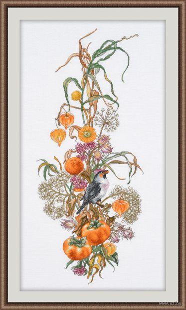 """Вышивка крестом """"Осенняя композиция"""" (180х440 мм) — фото, картинка"""