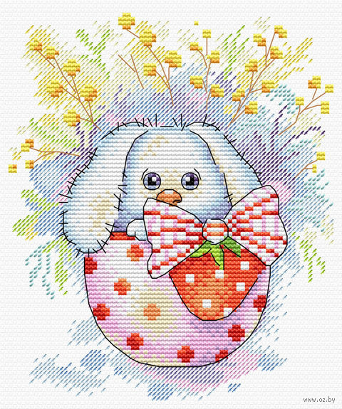 """Вышивка крестом """"Пасхальный кролик"""" (180х140 мм) — фото, картинка"""