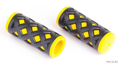 """Грипсы для велосипеда """"HY-500-3G"""" (чёрно-жёлтые) — фото, картинка"""