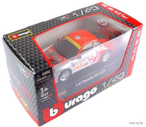 "Модель машины ""Bburago. Porsche 911 GT3 RSR"" (масштаб: 1/43)"