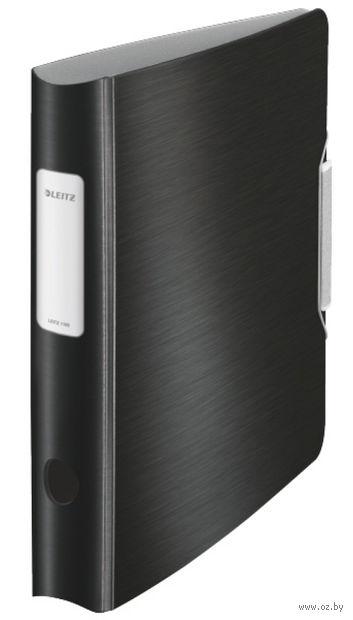 Папка-регистратор LEITZ Active Style (A4/65 мм; черная сталь)