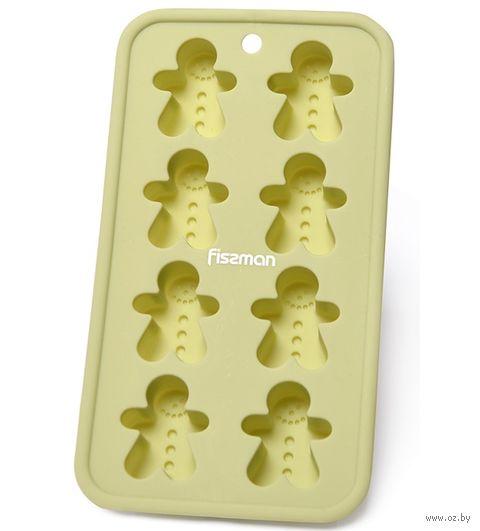 """Форма для выпекания кексов силиконовая """"Человечки"""" (200х110х25 мм) — фото, картинка"""