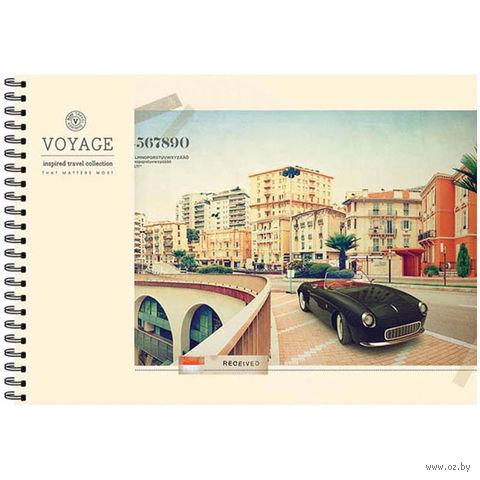 """Альбом для рисования на спирали А4 """"Города. Retro Voyage"""" (40 листов)"""