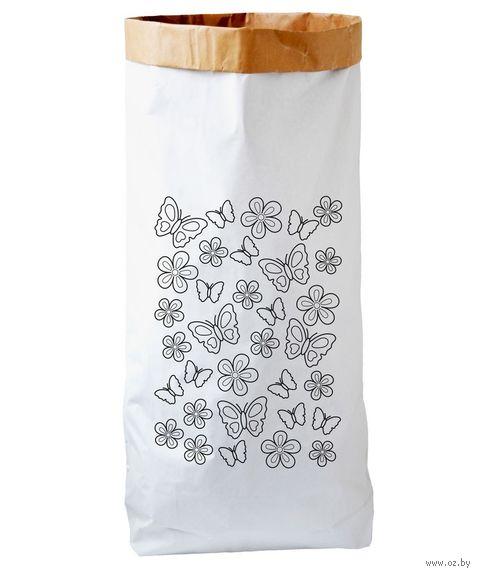 """Эко-мешок для хранения игрушек """"Бабочки"""" — фото, картинка"""