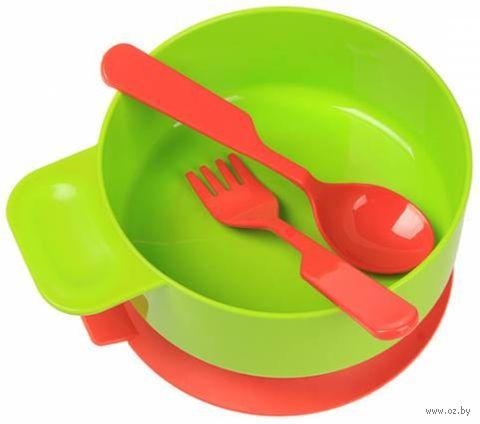 Набор посуды (тарелка, вилка, ложка; арт. 137) — фото, картинка