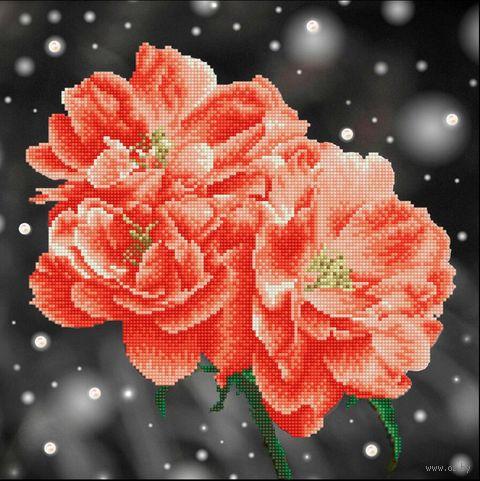 """Алмазная вышивка-мозаика """"Абрикосовые розы"""" (420х420 мм) — фото, картинка"""