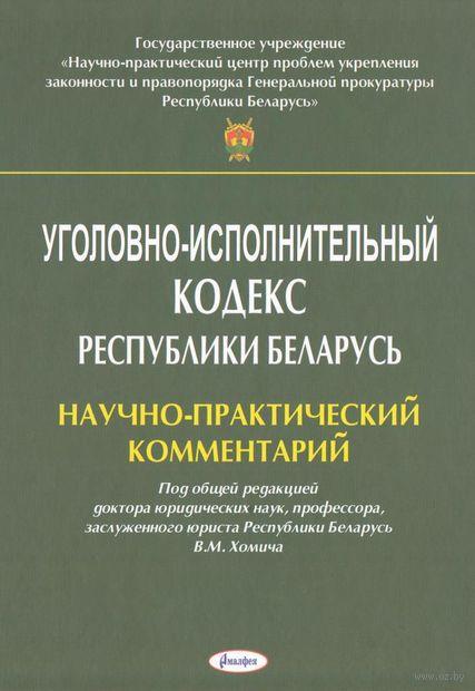Уголовно-исполнительный кодекс Республики Беларусь. Научно-практический комментарий — фото, картинка