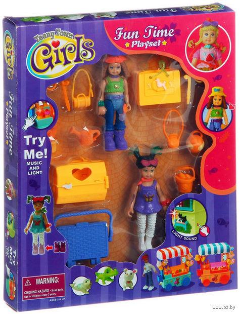 """Игровой набор """"Куклы с животными и аксессуарами"""" (со световыми и звуковыми эффектами)"""