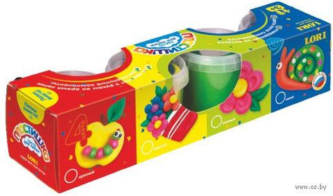 "Тесто для лепки ""Набор №4"" (в картонной коробке 4 цвета)"