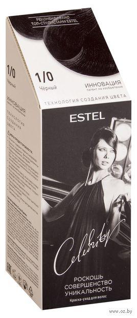 """Краска-уход для волос """"Estel Celebrity"""" (тон: 1.0, черный) — фото, картинка"""