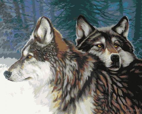 "Картина по номерам ""Взгляд волчицы"" (400х500 мм) — фото, картинка"