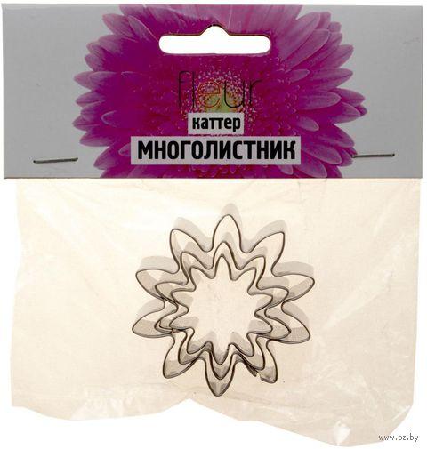 """Набор каттеров для керамической флористики """"Многолистник"""" (3 шт.) — фото, картинка"""
