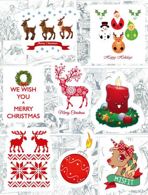 "Набор глянцевых наклеек №185 ""Merry Christmas"" — фото, картинка"