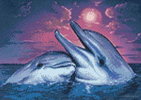 """Алмазная вышивка-мозаика """"Ночь в море"""" (380х270 мм) — фото, картинка"""
