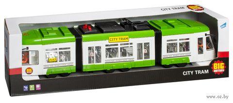 """Машинка инерционная """"Городской трамвай"""" (со световыми и звуковыми эффектами) — фото, картинка"""