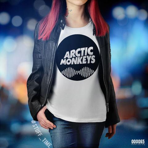 "Футболка женская ""Arctic Monkeys"" M (арт. 065)"