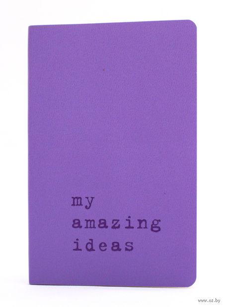 """Записная книжка Молескин """"Volant. My Amazing Ideas"""" в линейку (карманная; мягкая светло-пурпурная обложка)"""