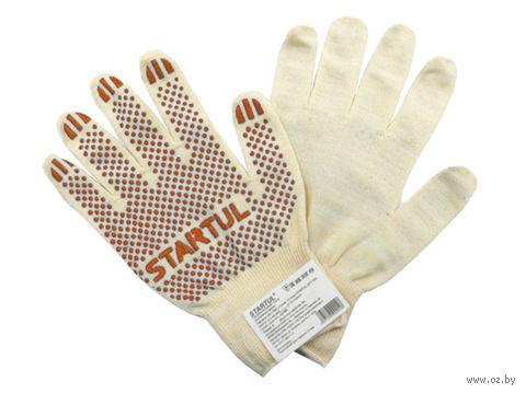 """Перчатки для садовых работ текстильные """"Точка"""" (M; 1 пара) — фото, картинка"""