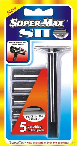 """Станок для бритья одноразовый """"Super-Max Sll"""" (+5 кассет) — фото, картинка"""