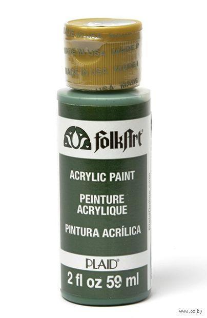 "Краска акриловая ""FolkArt. Acrylic Paint"" (темный зеленый свет, 59 мл; арт. PLD-00461)"