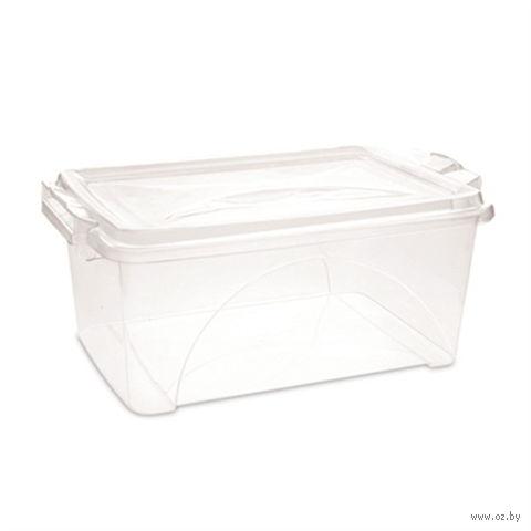 Ящик для хранения пластмассовый с крышкой (4,5 л; арт. 30052)
