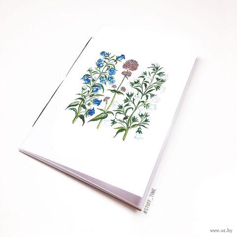"""Блокнот белый """"Полевые цветы"""" А6 (772)"""
