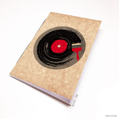 """Блокнот крафт """"Винил"""" (А5; арт. 110) — фото, картинка"""