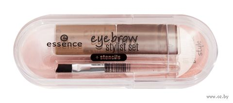 "Тени для бровей ""Eyebrow stylist set"" (тон: 01, natural brunette style) — фото, картинка"