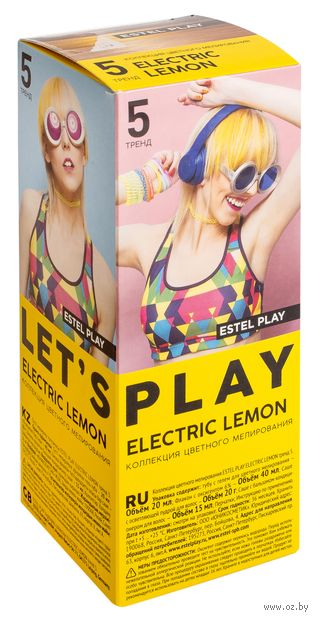 "Краска для волос ""ESTEL PLAY"" (тон: 5, electric lemon) — фото, картинка"
