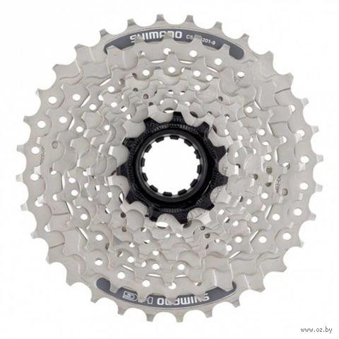 Кассета для велосипеда CS-HG201 (9 скоростей; звёзды 11-34) — фото, картинка
