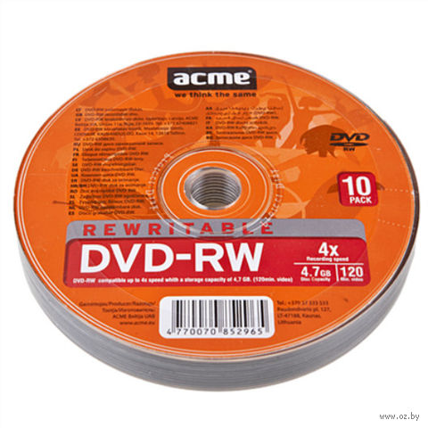 Диск DVD-RW 4,7GB 2-4x (10 штук)