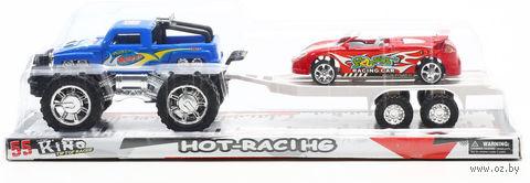 """Игровой набор """"Джип с прицепом и спортивной машиной"""" — фото, картинка"""