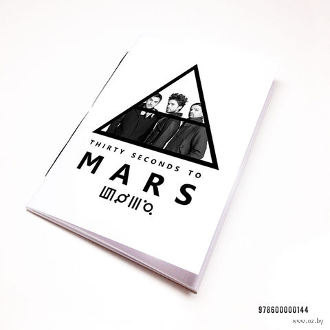 "Блокнот белый ""30 seconds to Mars"" А7 (144)"