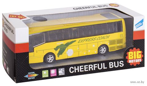 """Машинка инерционная """"Автобус"""" (со световыми и звуковыми эффектами) — фото, картинка"""