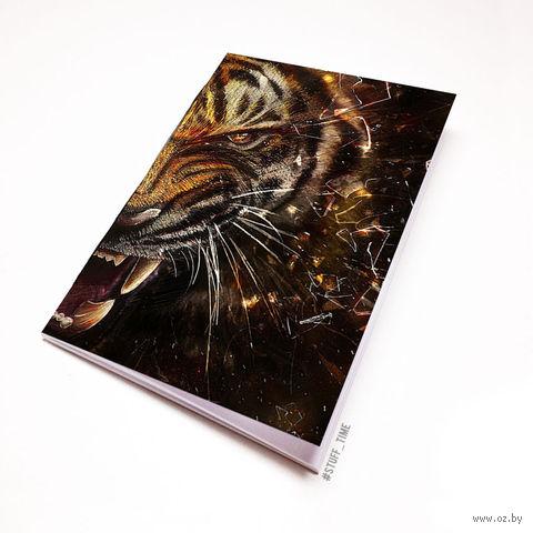 """Блокнот белый """"Тигр"""" А5 (356)"""