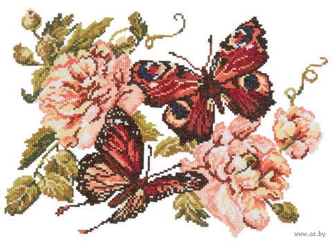 """Вышивка крестом """"Пионы и бабочки"""""""