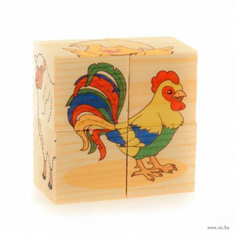 """Кубики """"Домашние животные"""" (4 шт.) — фото, картинка"""